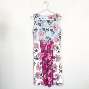 J. Jill Floral Dress, Sleeveless, V-Neck, Soft, XS